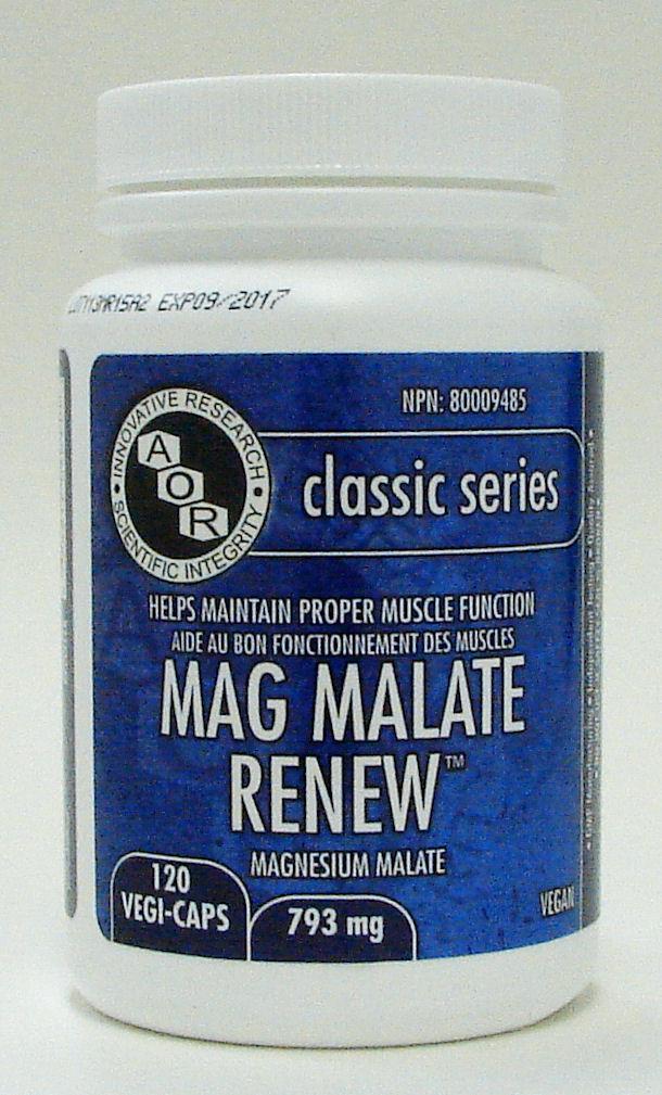 mag malate renew 793 mg, 120 v caps (aor)