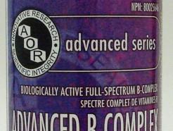 advanced B complex, 602 mg, 180 vegi-caps (aor)