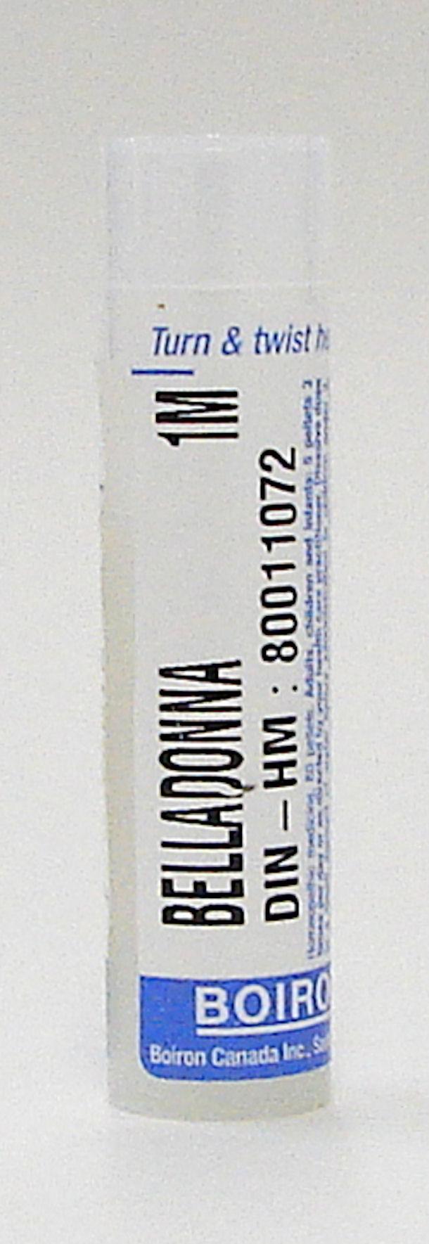 belladonna 1M sublingual pellets (boiron)