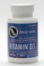Vitamin D3, 1000 IU, 120 vegi-caps (AOR)