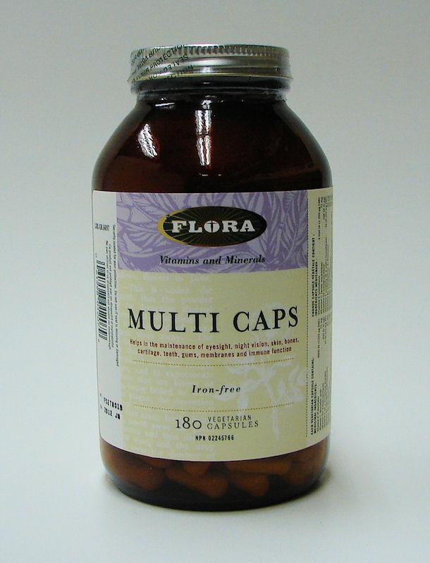Multi Caps, Iron-free, 180 vcaps (Flora)