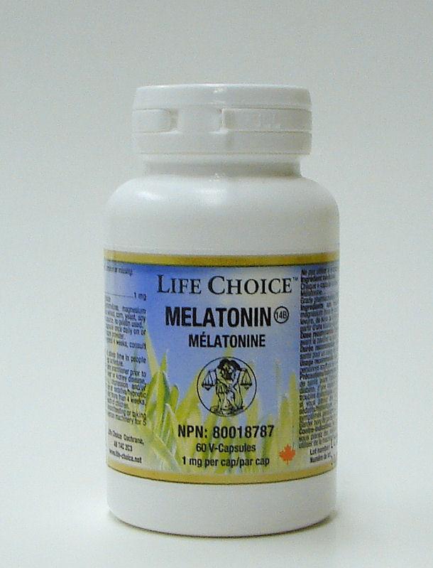 Melatonin (1 mg), 60 capsules (Life Choice)