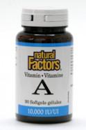 Vitamin A, 10,000 IU, 90 softgels  (Natural Factors)