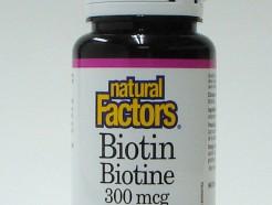 Biotin, 300 mcg, 90 tablets  (Natural Factors)