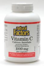 Vitamin C 1000mg, pH neutral, 180 capsules  (Natural Factors)