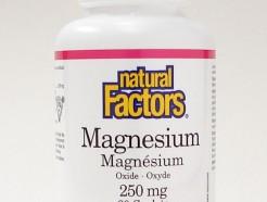 Magnesium Oxide, 250 mg, 90 caplets (Natural Factors)