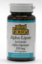 Alpha-Lipoic Acid, 100 mg, 60 capsules   (Natural Factors)