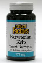 Norwegian Kelp, 575 mg, 180 tablets   (Natural Factors)