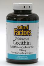 Unbleached Lecithin, 1200 mg, 180 softgels  (Natural Factors)