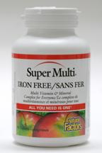Super Multi Iron Free, 90 tablets  (Natural Factors)