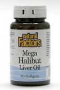 Mega Halibut Liver Oil, 90 softgels  (Natural Factors)