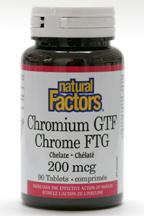 Chromium GTF Chelate, 200 mcg, 90 tablets  (Natural Factors)