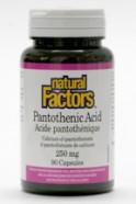 Pantothenic Acid (B5), 250 mg, 90 capsules  (Natural Factors)