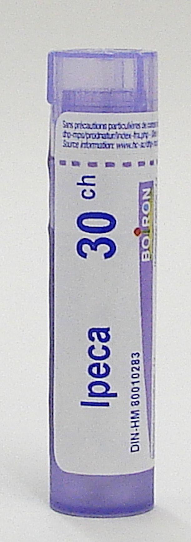 ipeca (ipecacuanha) 30ch sublingual pellets (boiron)