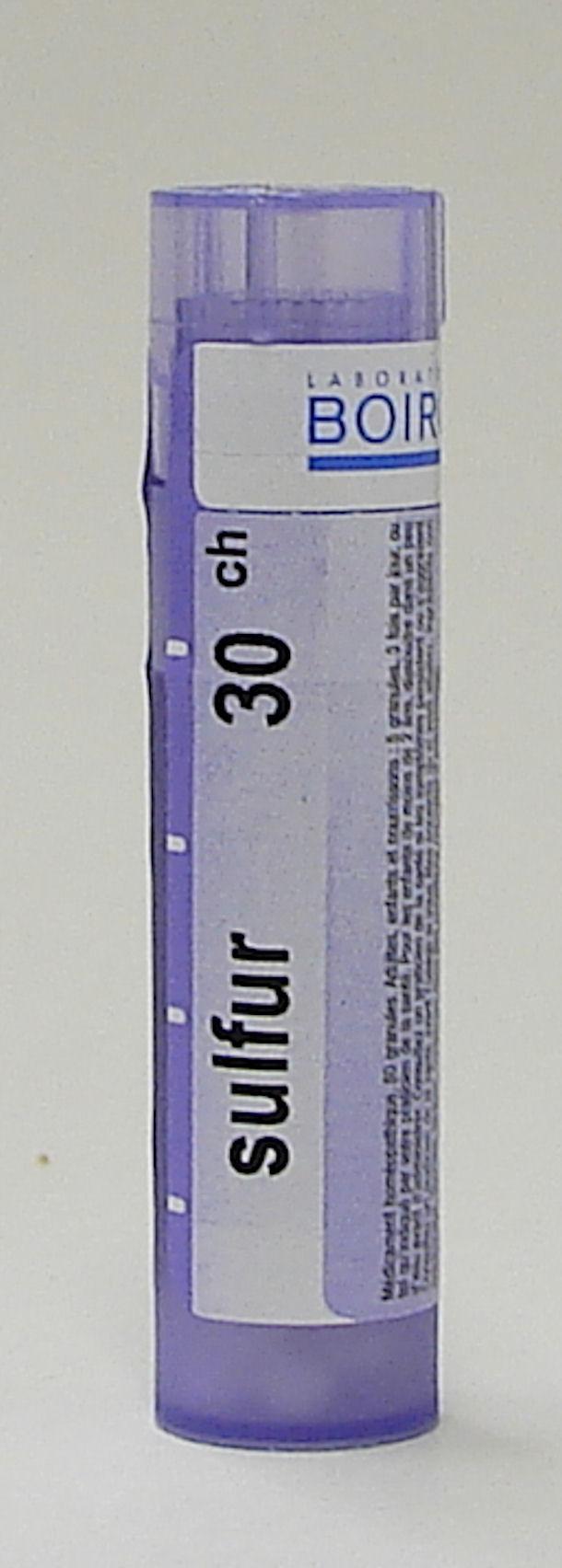 Sulfur, 30ch sublingual pellets (Boiron)