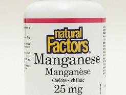 manganese chelate 25 mg, 90 tabs (natural factors)