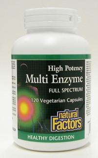 high potency multi enzyme full spectrum, 120 vegetarian caps (natural factors)