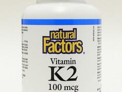 vitamin k2, 100 mcg,60 vegetarian capsules (natural factors)