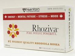 Rhoziva (rhodiola rosea), 100 mg, 60 veggie caps (nanton nutraceuticals)
