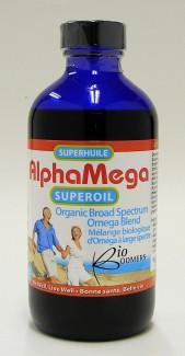 alphaMega superoil, organic broad spectrum omega blend, 225 ml (ecoideas)