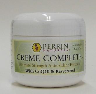 creme complete with coQ10 & resveratrol, 2 fl oz (perrin naturals)