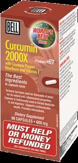 Curcumin 2000X (Bell Product #67) 680mg, 90 caps