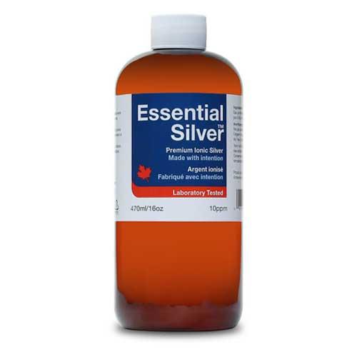 Essential Silver Reg. Strength 10 ppm Twist Cap 500ml  (Jardine Naturals)