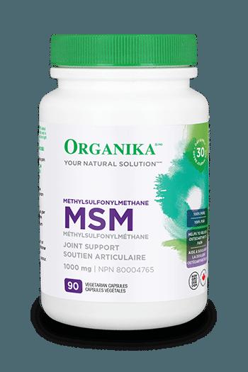 MSM (Methylsulfonymethane), 1000 mg, 90 vcaps (Organika)