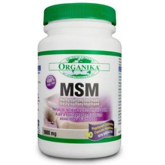 MSM (Methylsulfonymethane), Organika 1000 mg, 90 vcaps