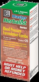 Blood Pressure Formulation Combo, 687mg, 60 caps (Bell Master Herbalist #26)