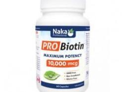 PRO Biotin, 10,000mcg  (Naka) 60 caps