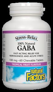 100% Natural GABA, 100mg / 60 chewable tablets (Natural Factors)