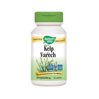 Nature's Way Iodine from Kelp, 600mg 100 caps
