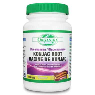 Organika Glucomannan KONJAC ROOT, 450 mg 120 vcaps