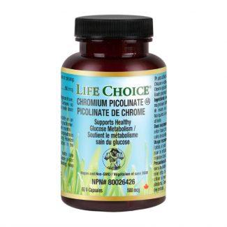 Chromium Picolinate, 500mcg, 60 vcaps  Life Choice