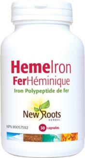 Heme Iron 11mg, 30 vcaps New Roots