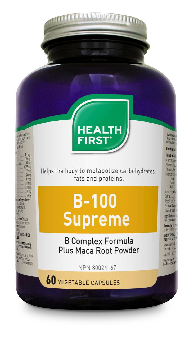 Health First B100-Supreme Plus Maca, 60 caps