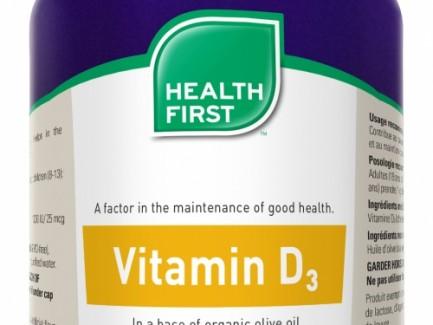 Vitamin D3 500 gelcaps 1000IU (Health First)