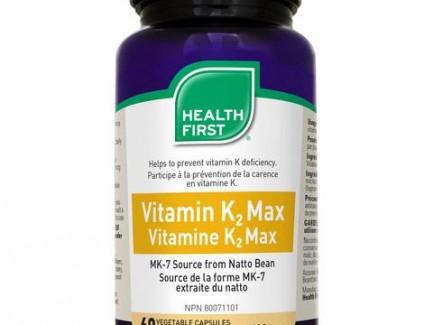Vitamin K2 Max 60 veg capsules 120mcg