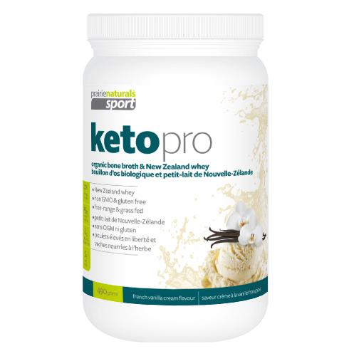 Keto Pro, Prairie Naturals, 490g french vanilla cream