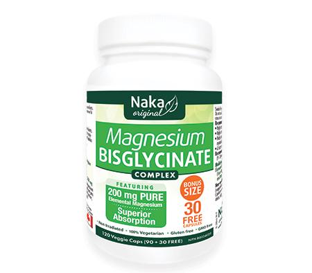 Magnesium Bisglycinate Complex, 200mg, 120 veggie caps (Naka Herbs)