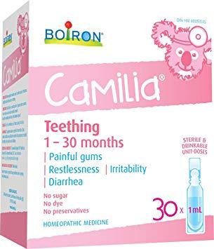 Boiron Camila, 30 1ml doses, Teething 1-30 months