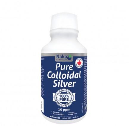 Pure Colloidal Silver 10ppm, 250ml (Naka)