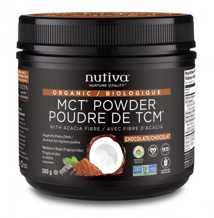 Nutiva Organic MCT Powder, 300g chocolate