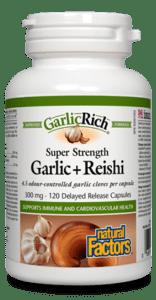 Garlic & Reishi, 120 capsules (Natural Factors)