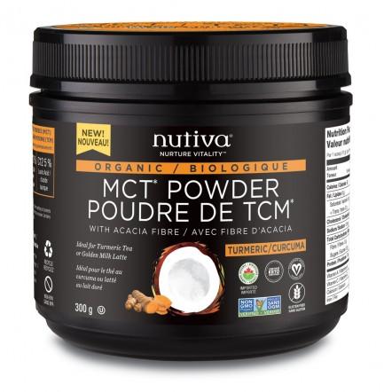 Nutiva Organic MCT Powder, 300g turmeric