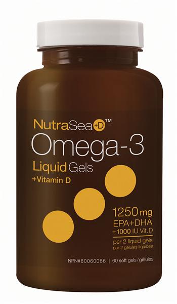 Nutra Sea Omega 3 + D, 60 softgels (Ascenta)