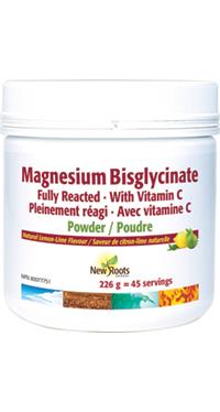 Magnesium Bisglycinate plus Vitamin C, 226g powder (New Roots)