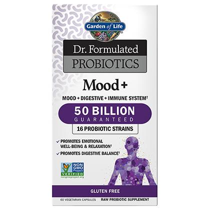 Mood+ 50 billion Probiotic, 60 vcaps (Garden of Life)