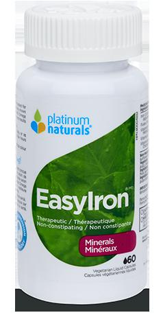 Easy Iron 60 Veg. Capsules (Platinum Naturals)